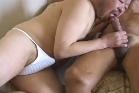 asian grandpapa Has his humongous schlong sucked By juicy daddy Bear