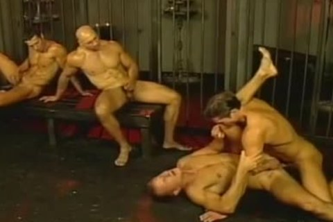 Muscle fellows Safe group fuck