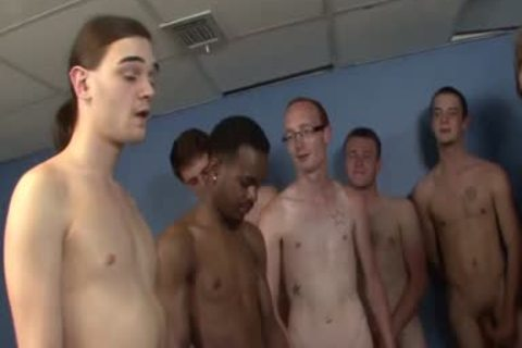 Interracial group-sex Ends With Bukkake