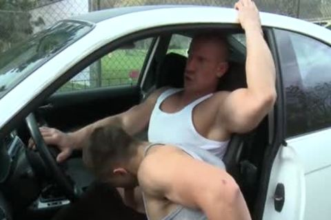 Muscle Daddy butthole-copulation With cumshot