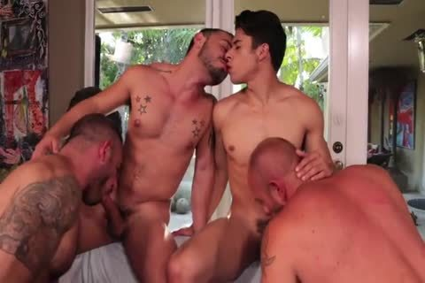 Rizzo, Lords, Andreas & Stevens - Muscled group sex